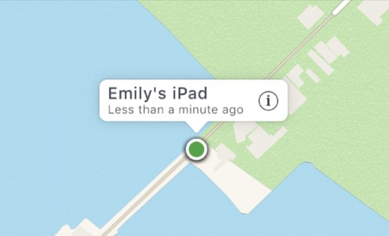Find my iPhone exact location is determined by the green dot